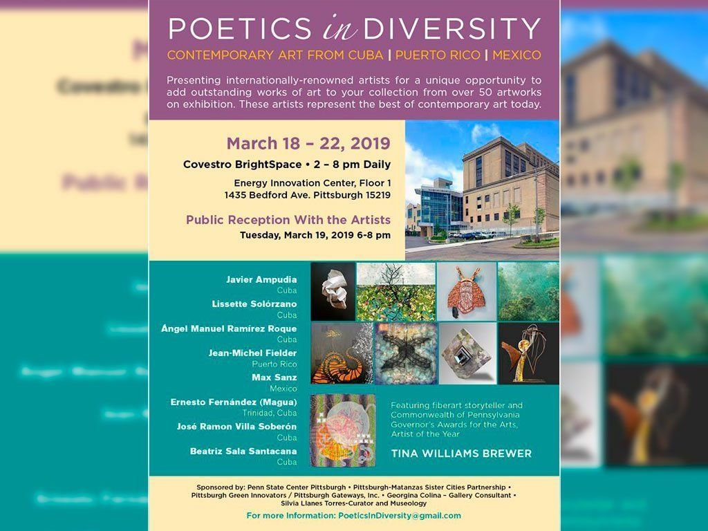 Poetics in Diversity Contemporary Art from Cuba, Puerto Rico, Mexico. Pittsburgh; Pensilvania. Estados Unidos.2019